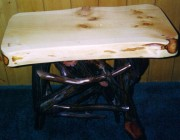 Rustic Root End Table